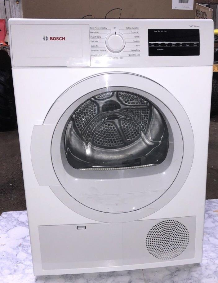 Bosch WTG86400UC 24 Inch Electric Dryer with 4 cu. ft. Capacity in White