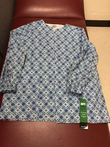 Scrub Lab Jacket Print Warmup Fancy Free #14553-3429 by WS Medium