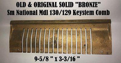 Sm OLD/ORIG Solid Bronze Mdl 130 Nat'l Candy Cash Register Keystem