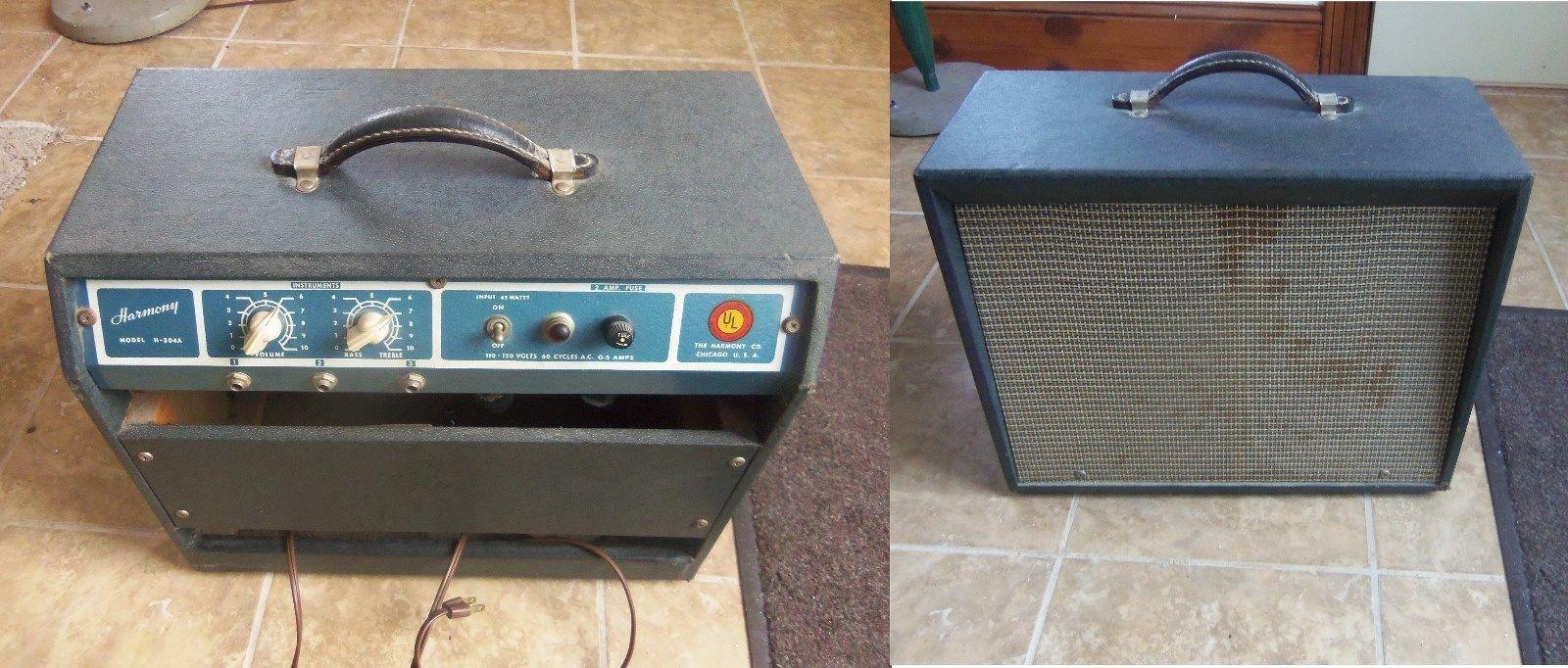 Harmony 304 A Guitar Amp Vintage guitar amp Fender Amp Jensen speaker Tube Amp