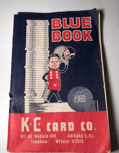 KC Card Co 1960 Catalog Blue Book Casino Games Chips Decks Cheats Poker Vintage