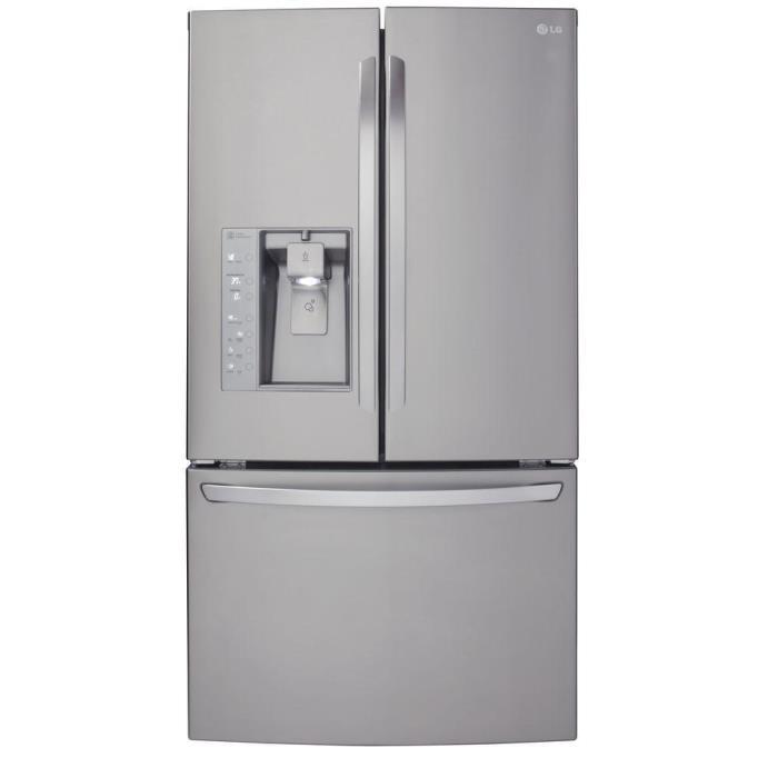 23.7 cu. ft. French Door Refrigerator in Stainless Steel, Counter Depth