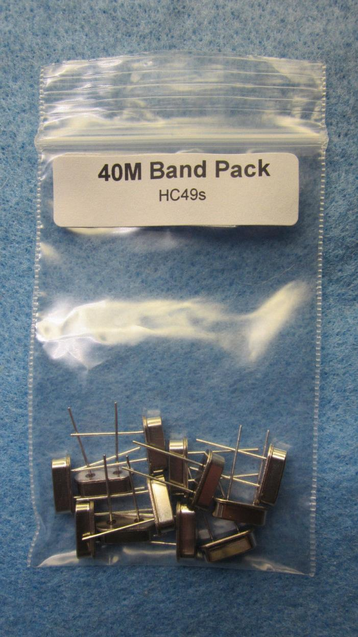 40M QRP Ham Radio Crystals HC49/S Band pack 13 crystals