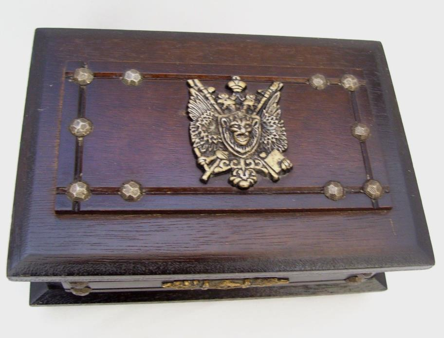 Vintage Goth Theme Jewelry Box Wood Body Piercing Holder & More Ghoulish Weird