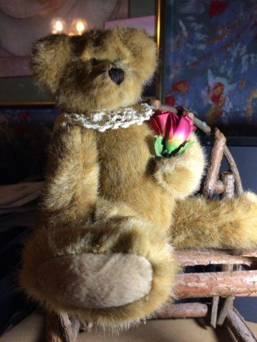 Priss Plush Bear on a Bench 12