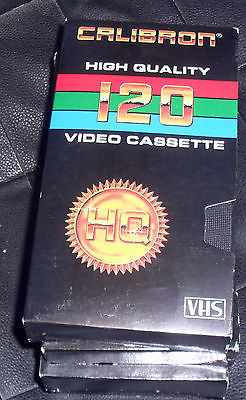 4 used Calibron High Quality 120 Video Cassettes