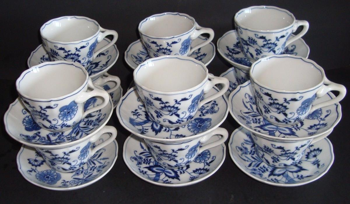 Blue Danube Cup and Saucer Set of 12 Banner Mark