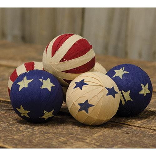 6/Set, Americana Flag Rag Balls Bowl Fillers