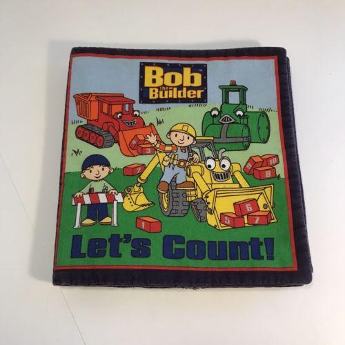 Soft Fabric Book BOB THE BUILDER Cloth Book Quiet Book Counting Tools EUC