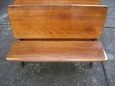 ANTIQUE  SCHOOL BENCH DESK