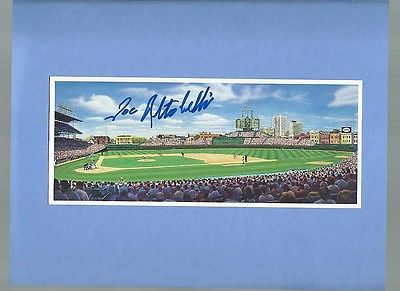 JOE ALTOBELLI CHICAGO CUBS SIGNED AUTOGRAPHED WRIGLEY FIELD ART CARD
