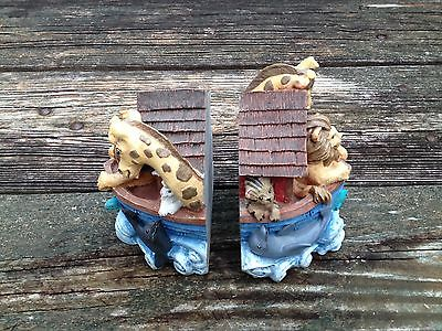 Noah's Noahs Ark Bookends Baby Kids Nursery Books Book Shelf Shelves