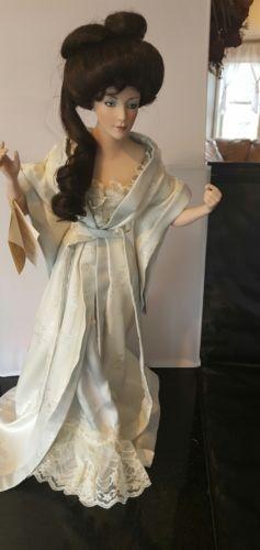 The Gibson Girl Boudoir Porcelain Doll ~ Franklin Heirloom    Geisha Collectible
