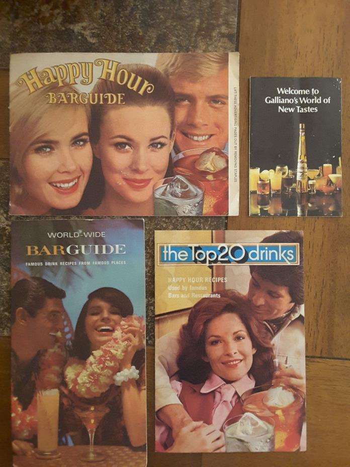 4 Bar Guide Drink Recipe Booklets,