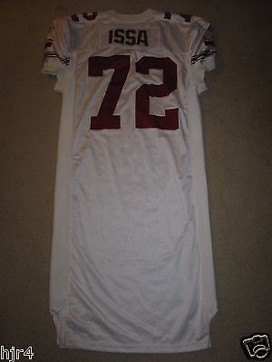 Arizona Cardinals #72 Jabari Issa NFL Reebok 2001 Game Worn Used NFL Jersey 46