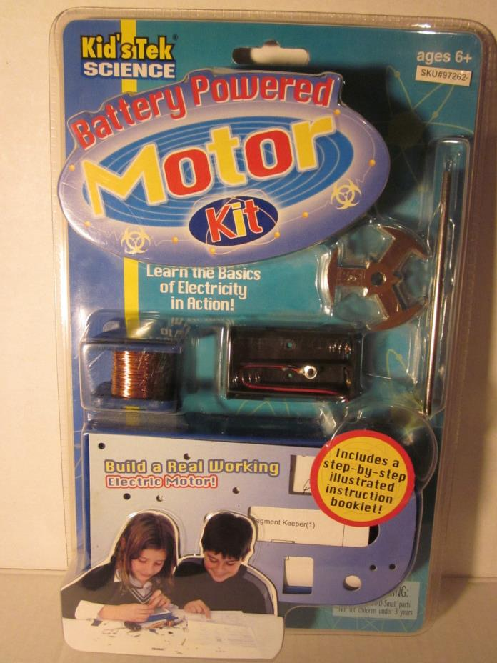 Battery Powered Motor Kit Kids Tek Science Build Real Working New Factory Sealed