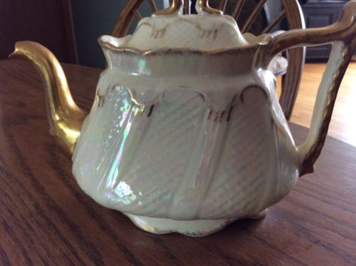 antique pearline teapot by S. F. & Co