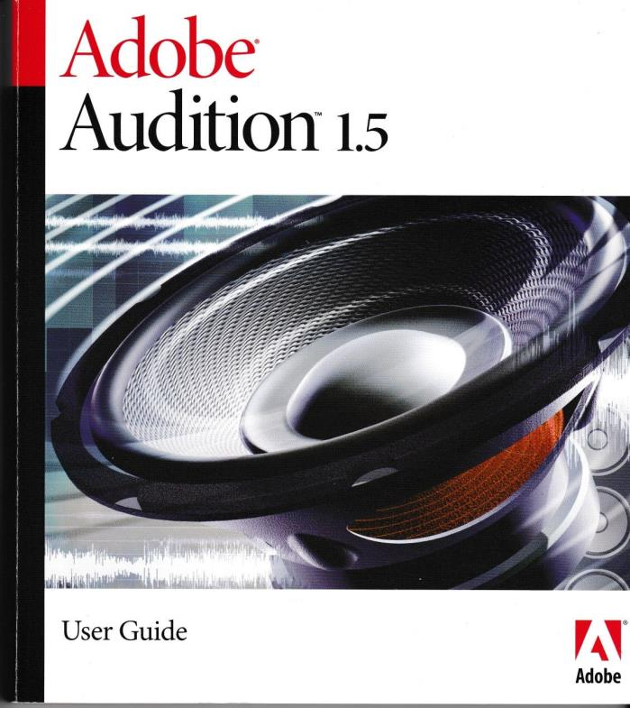 Adobe Audition 1.5 User Guide Manual Windows