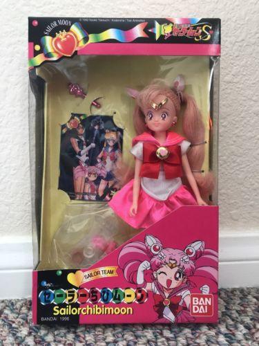 Sailor Moon S Chibimoon doll Bandai 1996 Chibiusa Sailor Team Rare vintage