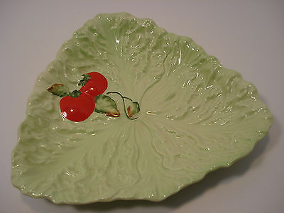 Carlton Ware Leaf Pattern Dish with Tomatoe Motif