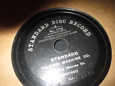 78RPM Standard 1715 c1903 78rpm record Coonville Cullud Band, Baritone Solo Poor
