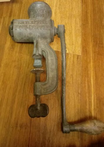 ANTIQUE FOOD GRINDER…ENTERPRISE FOOD CHOPPER No 100