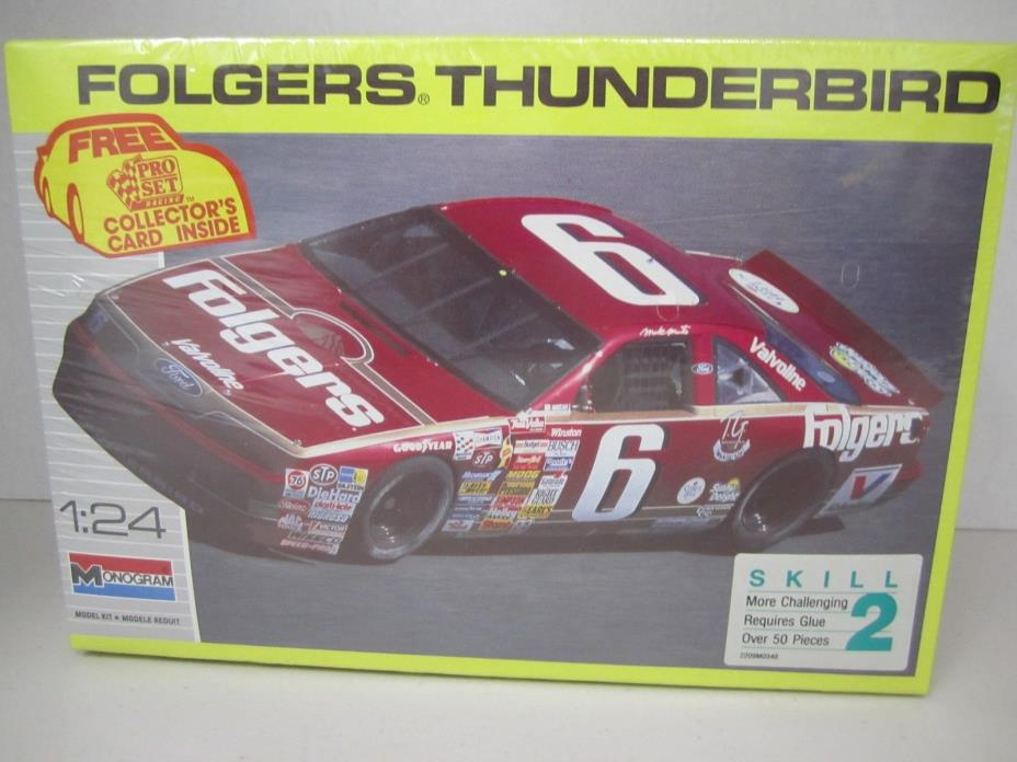 Folgers Thunderbird - 1990 Monogram - Mark Martin - 1/24 Scale Model Kit -Sealed