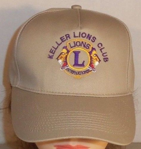 Texas Lions Club Hat KELLER LIONS INTERNATIONAL Ball Cap Snapback One Size Most