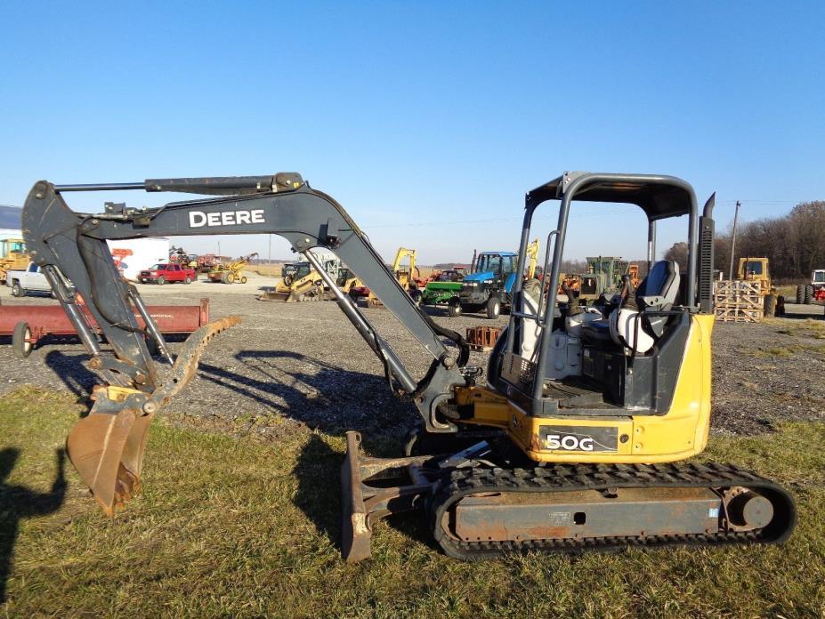 2013 John Deere 50G Excavator, OROPS, Hyd. Thumb, Blade, Rubber tracks, 1,620hrs