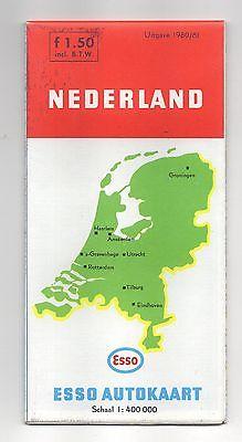 Vintage ESSO Map of Nederland 1980-81 (Netherlands)