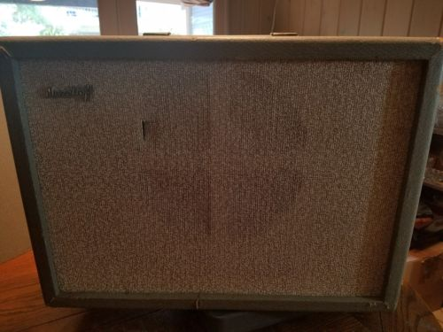 COOL Vtg MANELTOFF GUITAR AMPLIFIER  AMP Working Goodmans Loudspeakers Speaker