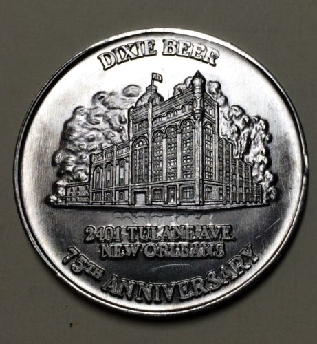 Dixie Beer 75th Anniversary New Orleans Brewed Mardi Gras Doubloon Coin Token