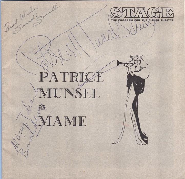 PATRICE MUNSEL AUTOGRAPH