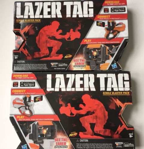 Set of 2 Complete Lazer Tag Single Blaster Battle Pack Nerf Iphone Ipod Game