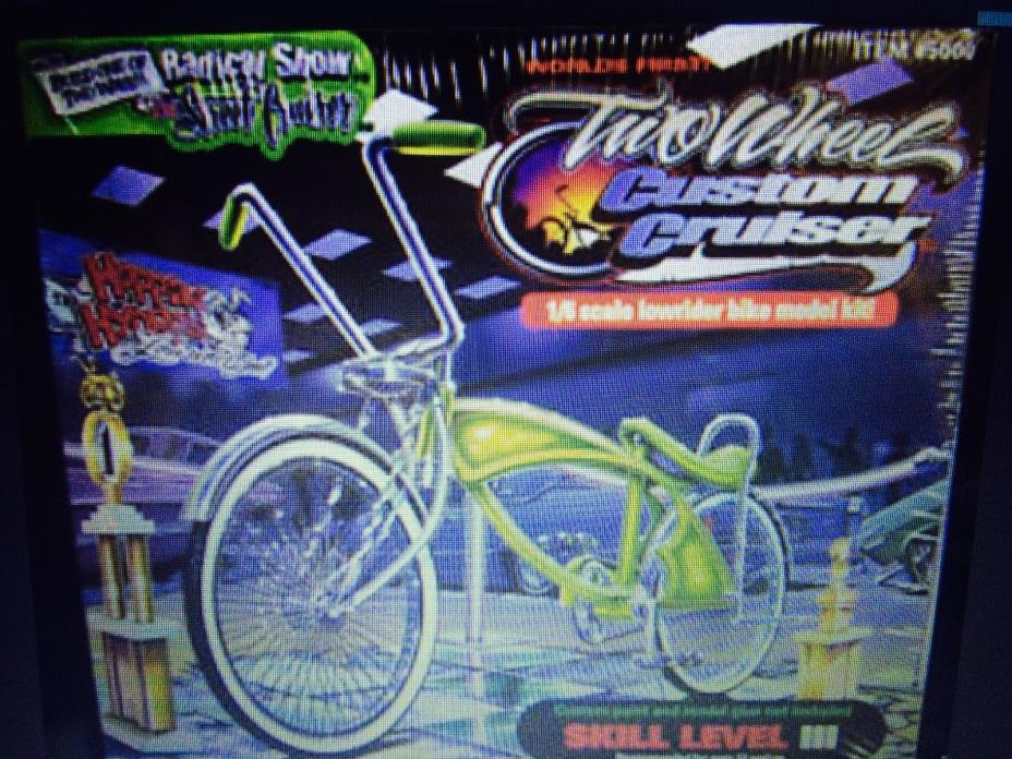 hoppin hydros 2 wheel cruisers rare vintage toy lowrider bike model kit1/6 scale