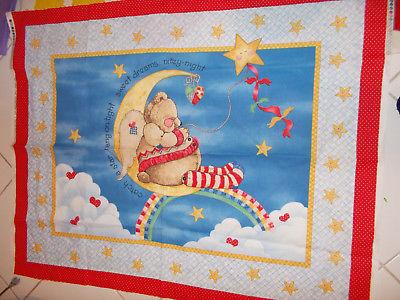 Daisy Kingdom #4047 Nitey Night Nursery Quilt Fabric Panel Springs Industries