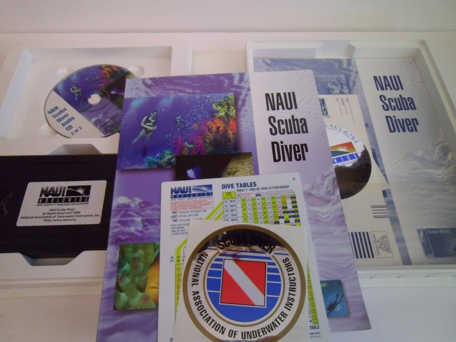 NAUI Scuba Diver Kit w/ VHS, CD's
