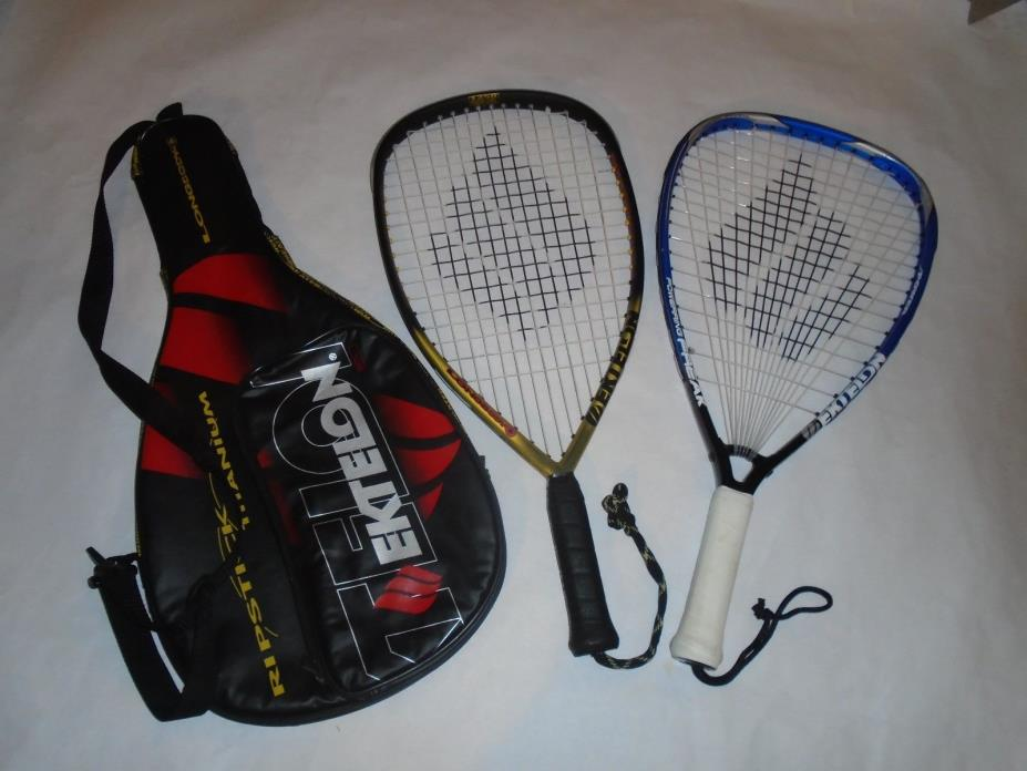 Pair/Lot Ektelon Racquetball Racquets. Ripstick Titanium & Power Ring Freak. A+.