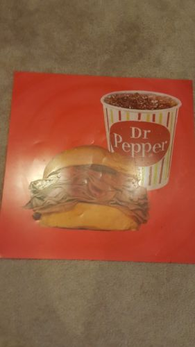 Vintage Dr. Pepper Drive-in movie theater Snack Bar flexible sign