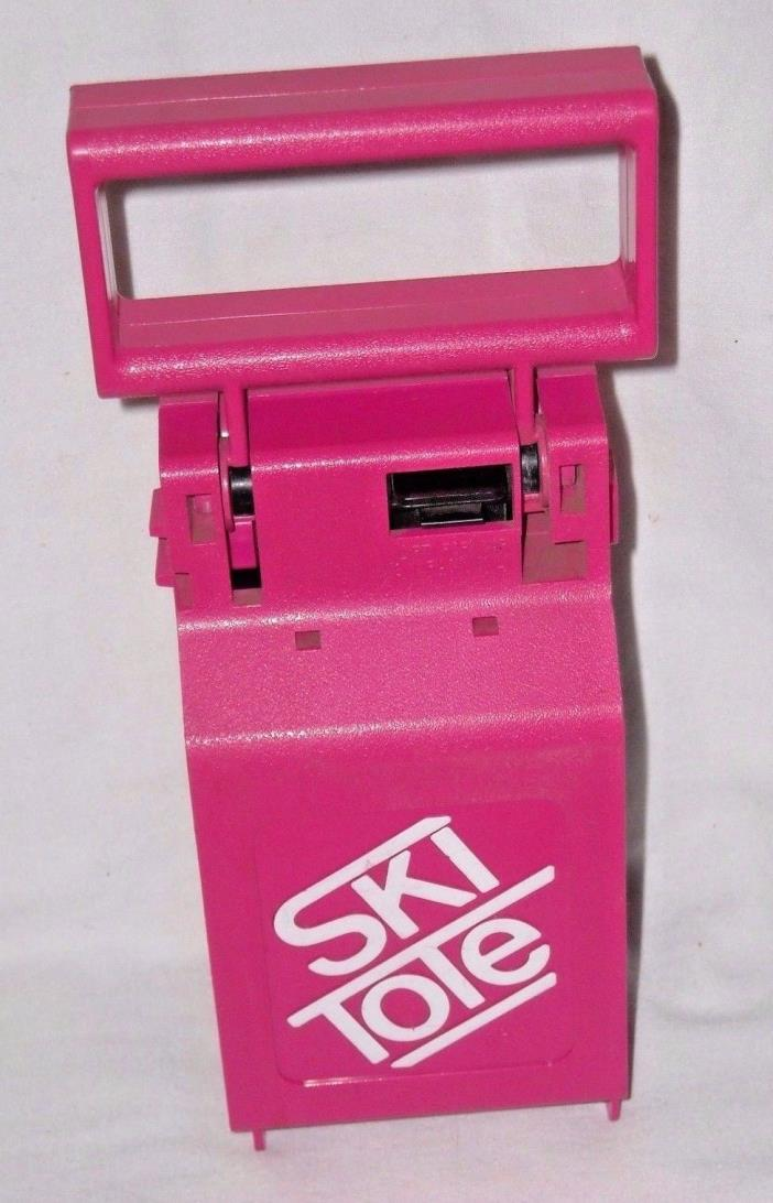Ski Tote for Carrying Skis and Poles - Hot Pink