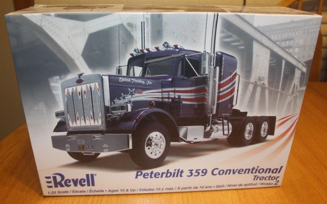 1//25 Revell Peterbilt 359 Chrome Mufflers Elbows Grab Handles