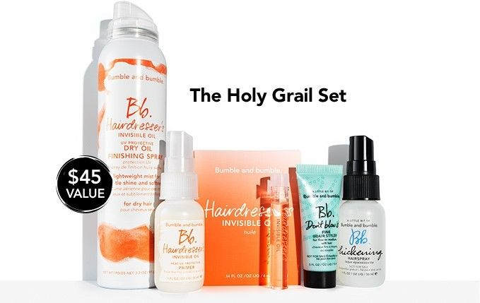 Bumble & Bumble BB Holy Grail Set Hairdressers Invisible Oil, Thickening, etc.