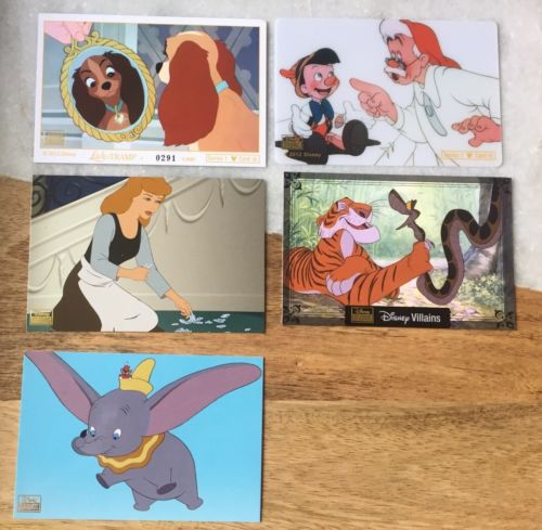 Disney Collector Card Series 1 Pack 5-8 Card Cinderella Dumbo Jungle Book Mickey