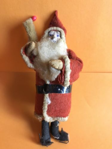 Antique Santa Christmas Decoration 4-1/2""