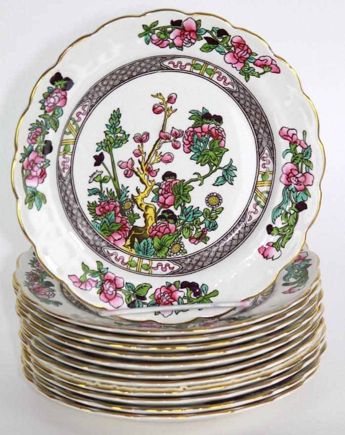Antique BOOTHS England 'INDIAN TREE' 12 Salad Plates, Pattern A8138, 7 3/8
