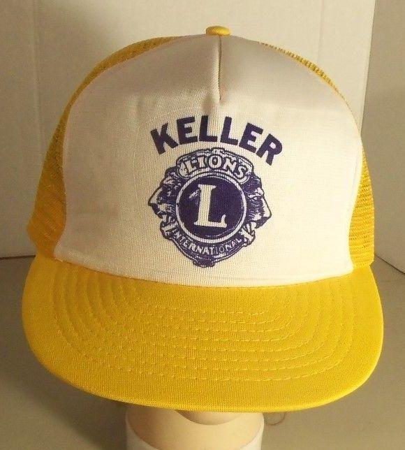 Texas LIONS International Club Keller Trucker Hat Mesh Snapback Vintage Cap