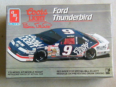 FACTORY SEALED AMT/Ertl Bill Elliott #9 Coors Light Ford Thunderbird  Kit #6740