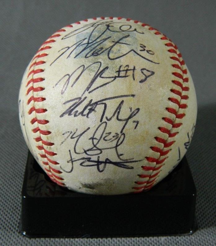 Delmarva Shorebirds team signed Game Used Baseball Minor League Orioles