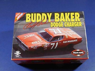 Buddy Baker #71 1973 Dodge Charger (Molded in Poppy Red!) 1/25 Model Car Kit
