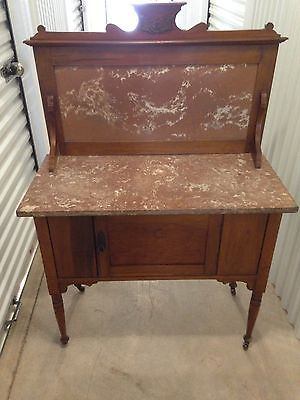 Antique Marble Top Dry Sink ~ European